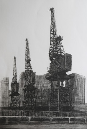 Melanie Bellis, Shipping Cranes at Blue Bridge