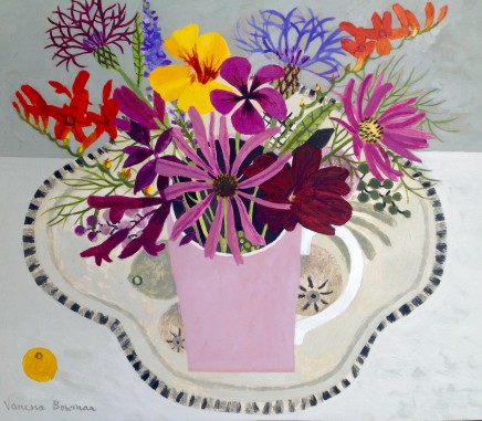 Vanessa Bowman, Pink Cup and Summer Flowers