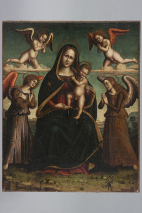 Prob. Bologna (Italy), Holy Mary with Child and Angels, 16th Century