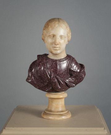 A Female Marble Bust, Rome, 18th Century