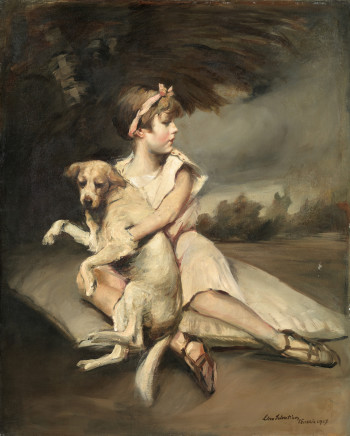Lino Selvatico, Girl with dog (