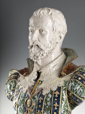 Minghetti e Figli Manufactory Bologna, Bust of Francesco Gonzaga and Barbara from Austria