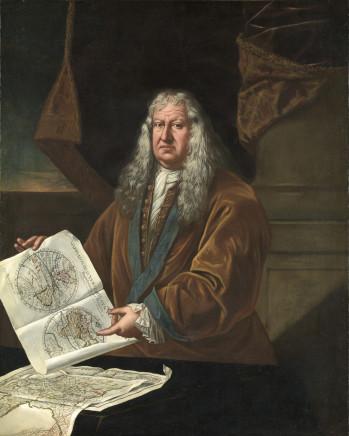 Giulio Pignatti, Portrait of a Cartographer, 1712