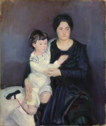 Armando Spadini, Portrait of Princess Brancaccio and her son, 1916