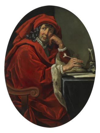 Jacopo Vignali, Portrait of a Fifteenth-century Scholar (Lorenzo the Magnificent?), 1640 circa