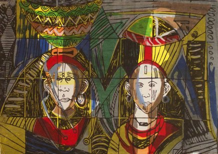 Bruce Onobrakpeya, Three Faces II: A Revisit of the Sunshine Period (1960 - 70)