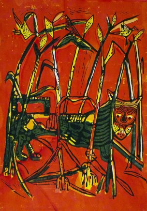 Bruce Onobrakpeya, Leopard in the Cornfield: A Revisit of the Sunshine Period (1960 - 70)