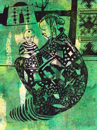 Bruce Onobrakpeya, Mother and Child: A Revisit of the Sunshine Period (1960 - 70)