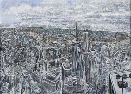 Ed Gray, City of London from Searcys Club at The Gherkin 'Looking South', 2012