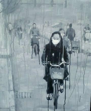 Sheng Qi, Riding Alone in Grey, 2007