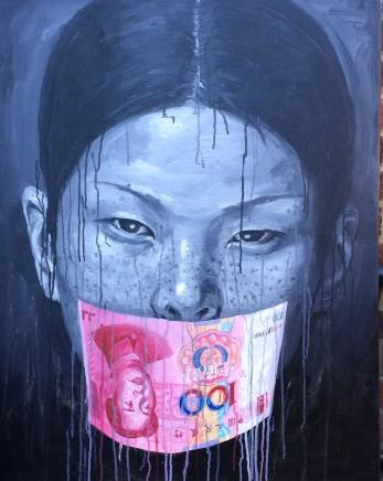 Sheng Qi, Chinese Girl and 100 Yuan Reverse, 2012