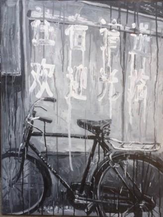 Sheng Qi, Slogan and Bike, 2009