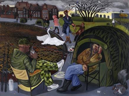 Ed Gray, Fishermen, Burgess park, Peckham, 2005