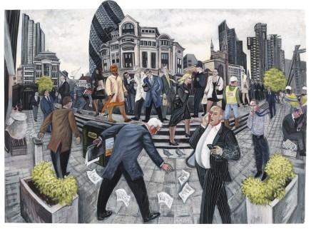 Ed Gray, Another Diamond Day, 'St Mary Axe', City of London, 2012