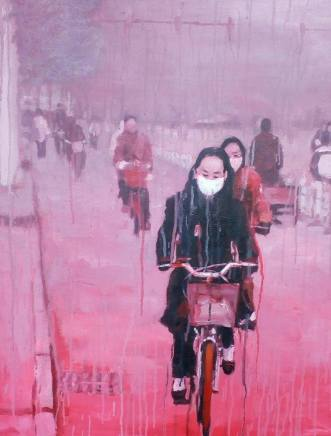 Sheng Qi, Riding Alone in Red, 2007