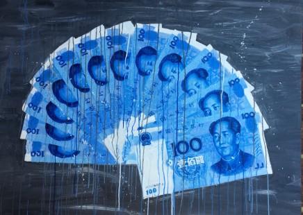 Sheng Qi, Blue RMB Fan, 2013