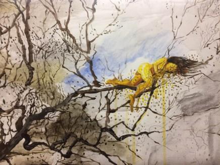 Sheng Qi, Woman on the Tree, 2013