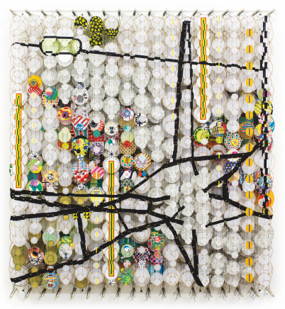 Jacob Hashimoto, The Quiet Center of All Thoughts Never Known, 2016