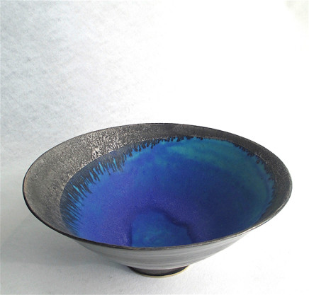 Sarah Perry, Silver Lustred 'Blue Pool' Bowl, 2017