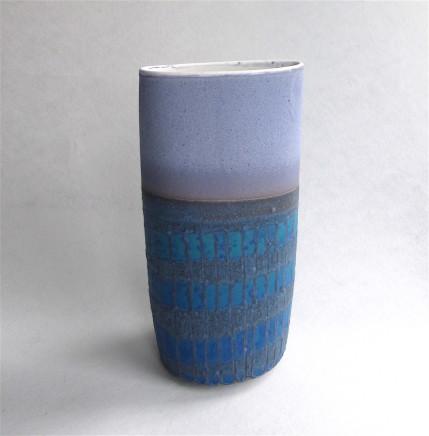Sarah Perry, Mauve/Blue Grid Oval, 2017
