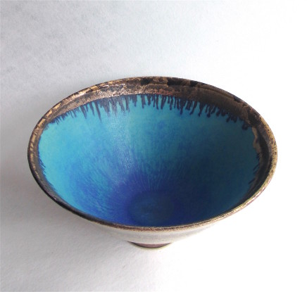 Sarah Perry, Gold Lustred Blue Pool Bowl, 2017