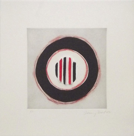 Sir Terry Frost RA, Three Stripes for Red, 2002