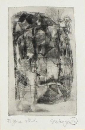 Peter Lanyon, Figure Study, c. 1958