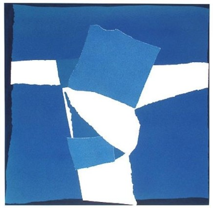 Sandra Blow RA, Blue Square Collage, 2003