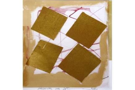 Sandra Blow RA, Ochre Squares / Red, 2005