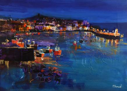 Mike Bernard RI, St Ives at Night, 2017