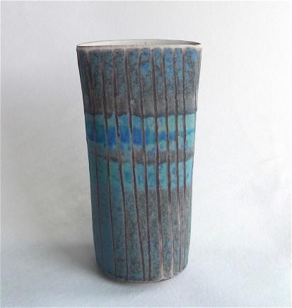 Sarah Perry, Dark Blue Grid Oval, 2017