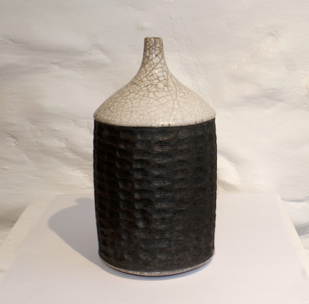 Tim Andrews, Carved Bottle Form - White Glaze, 2017