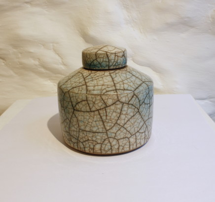 Tim Andrews, Green Glazed Lidded Piece, 2017