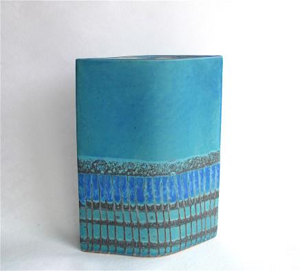 Sarah Perry, Blue Grid Ellipse, 2017