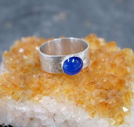 Poppy Mitchell, Blue Agate Textured Ring , 2017