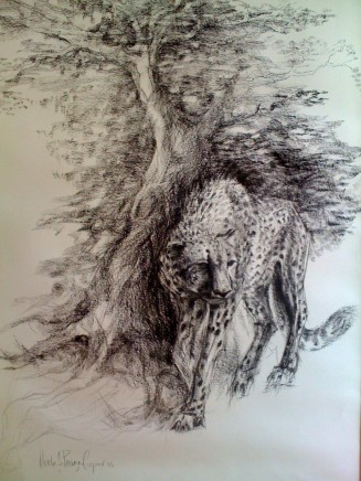 Michelle Pearson Cooper - CHEETAH AND TREE