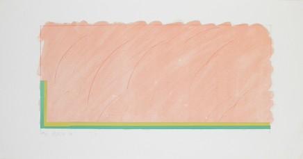 Richard Smith, Horizon V (Peach, Yellow and green), 1970