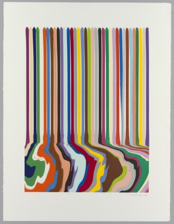 Ian Davenport, Etched Lines: Thirty Six, 2008