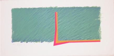 Richard Smith, Horizon III (Green, pink, yellow and ochre), 1970