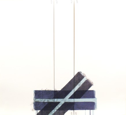 Richard Smith, Two of a Kind 1a (light blue cross), 1978