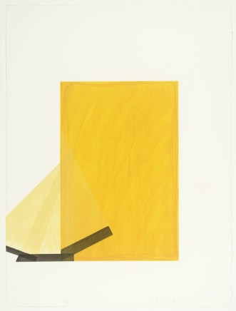 Richard Smith, Drawing Boards I (yellow and black), 1980