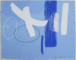 Wilhelmina Barns-Graham, Millenium Blue, 2000