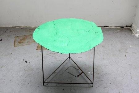 <p><strong>Peter Marigold</strong>, <em>Wooden Table, Green 1</em>, 2013</p>