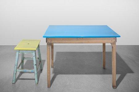 "<span class=""artist""><strong>Jo Nagasaka</strong></span>, <span class=""title""><em>Set (table and stool)</em>, 2013</span>"