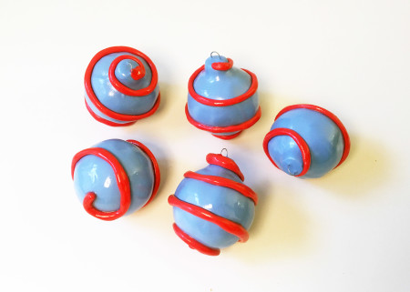 """<p><span class=""""artist""""><strong>Diego Faivre</strong></span>, <span class=""""title""""><em>Minute Manufacture Decoration set (blue/red swirl)</em>, 2019</span></p>"""