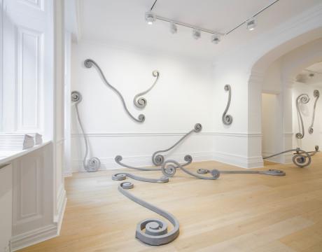 Installation view, Richard Saltoun Gallery 2018. Photo by Peter Mallet.
