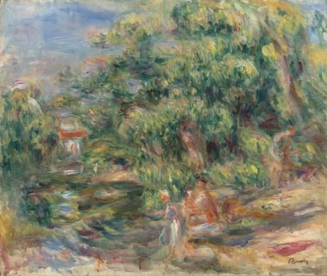 Pierre-Auguste Renoir, Lavandières au bord du Loup, 1917, Oil on canvas