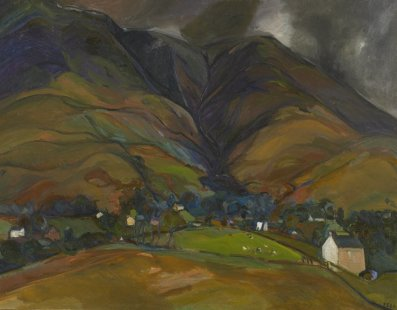 Sheila Fell 1931-1979 Skiddaw, 1964 oil on canvas 28 by 36 inches  Loaned from a Private Collection, image © Anna Fell