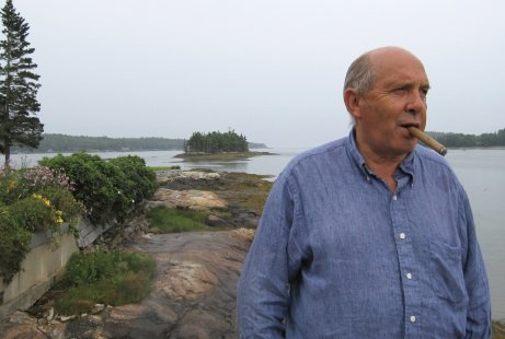 John Walker at Seal Point, Maine with Peabow Island in the background, Summer 2009.  Photograph © Waqas Wajahat