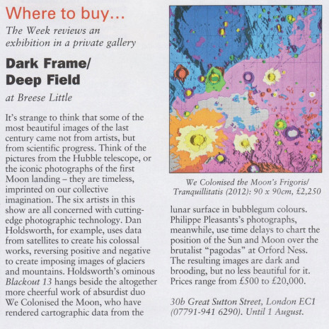We Colonised The Moon included in dark frame/deep field exhibition at Breese Little Gallery.